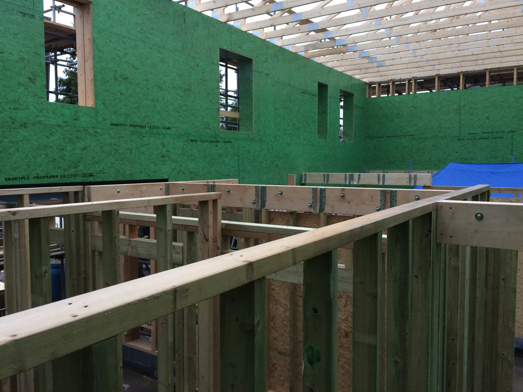 Passive House under construction in Nailsea, near Bristol, by green building experts Greenheart