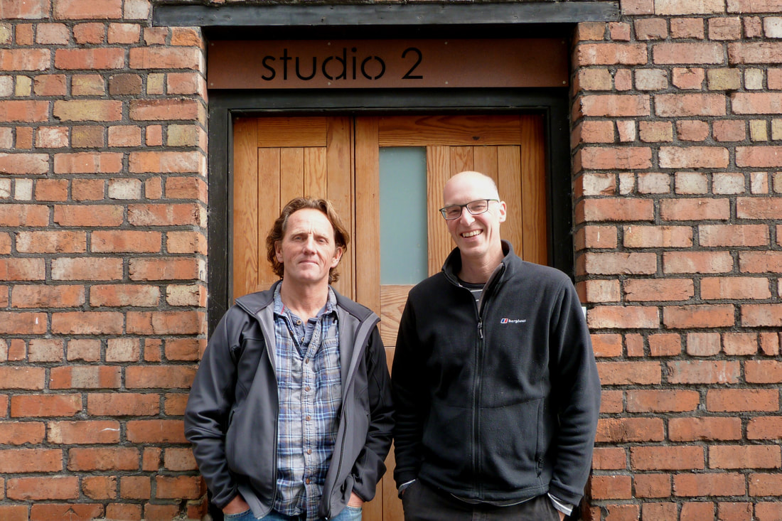 Malcolm & Richard outside the Greenheart office at studio 2 in Montpelier